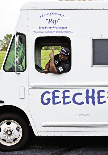 "Desmond Brown dedicated his Geechee Island Food Truck to ""Pap,"" his grandfather and main inspiration"