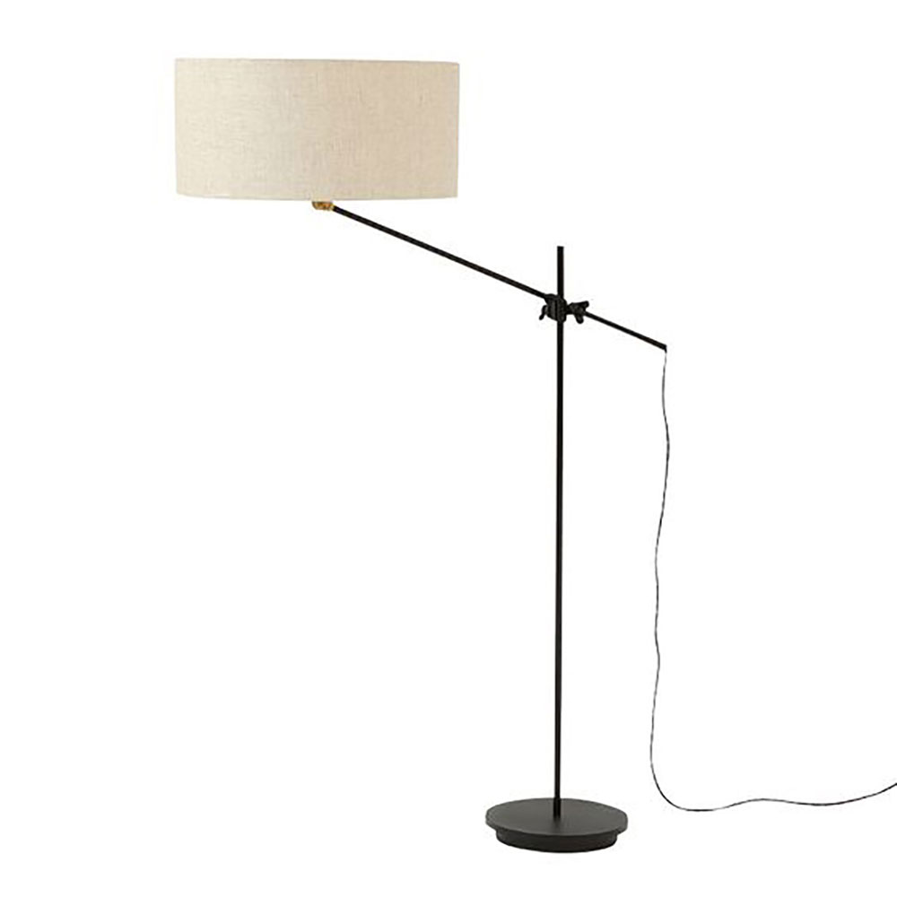 Workstead floor lamp (cast-iron, steel, and brass with linen shade), $750 at The Commons