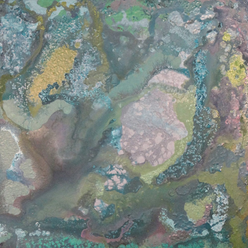 Painting (She's Taken Lichen To Him by Laura Melonas Dargan, acrylic, 30 x 30 inches), $700 at  Charleston Art Brokers