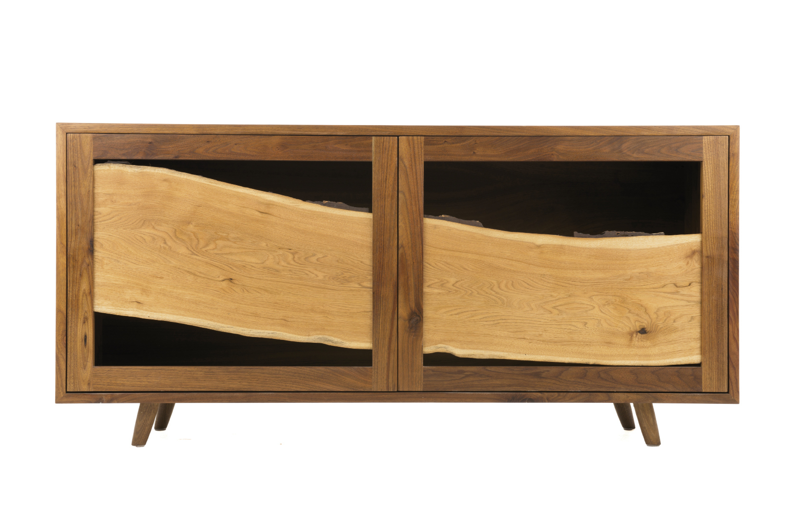 Butternut Sweep cabinet by Moran Woodworked Furniture