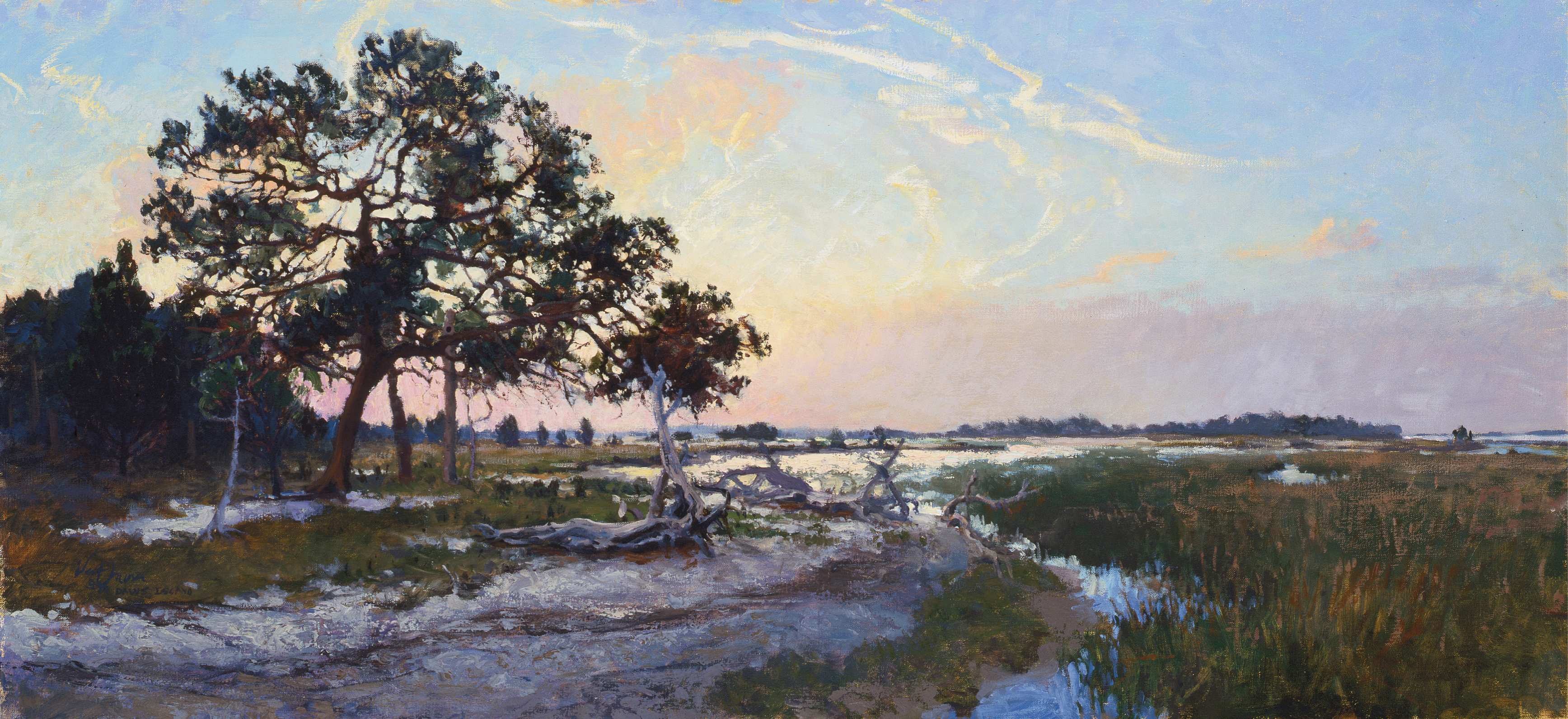 Native Spirits (Daws Island, South Carolina; oil; 15 ×  36 inches; 1996; private collection)