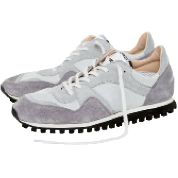 Reitz rocks these Swedish trainers, made using 1950s molds and machinery. $220, spalwart.com