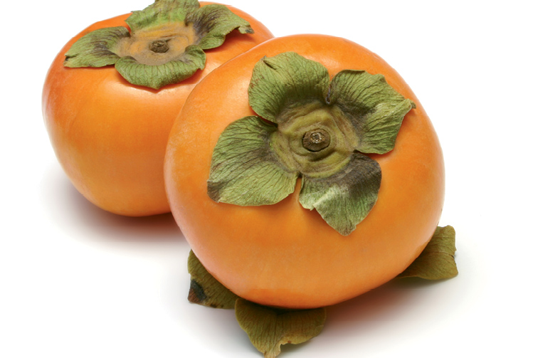 Fruits from the Oriental persimmon variety 'Fuyu'