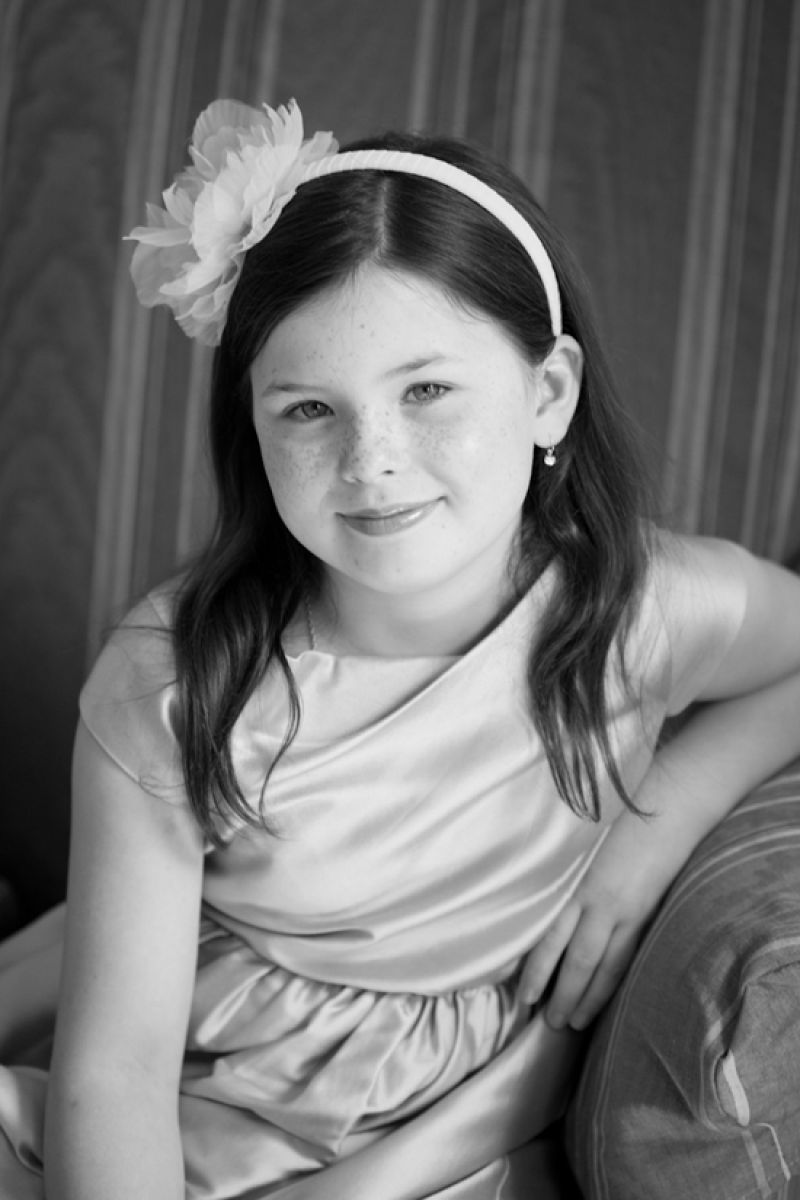 PRETTY AS A PORTRAIT: Photographer Gayle Brooker snagged this black-and-white shot of Tim's daughter Ava, capturing the traditional feel of the day.