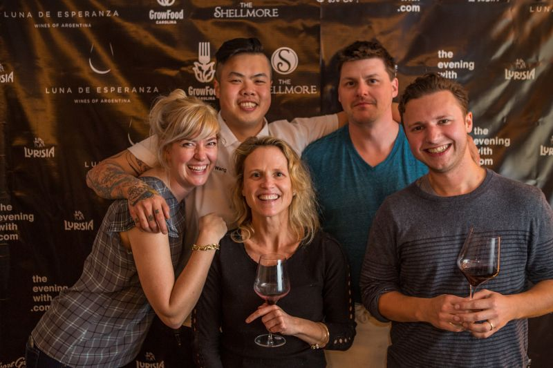 Corrie and Shuai Wang of Short Grain, Sara Clow of GrowFood Carolina, Eric Milley of The Shellmore, and Eric Casella of Counter Cheese Caves