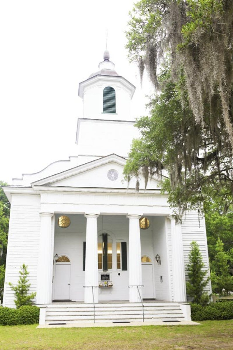 "HOLY GROUND: ""The Presbyterian Church on Edisto was a nod to our connection with (and appreciation of) the history on the island,"" says Carrie. ""It's so beautiful we didn't need to spruce it up."""