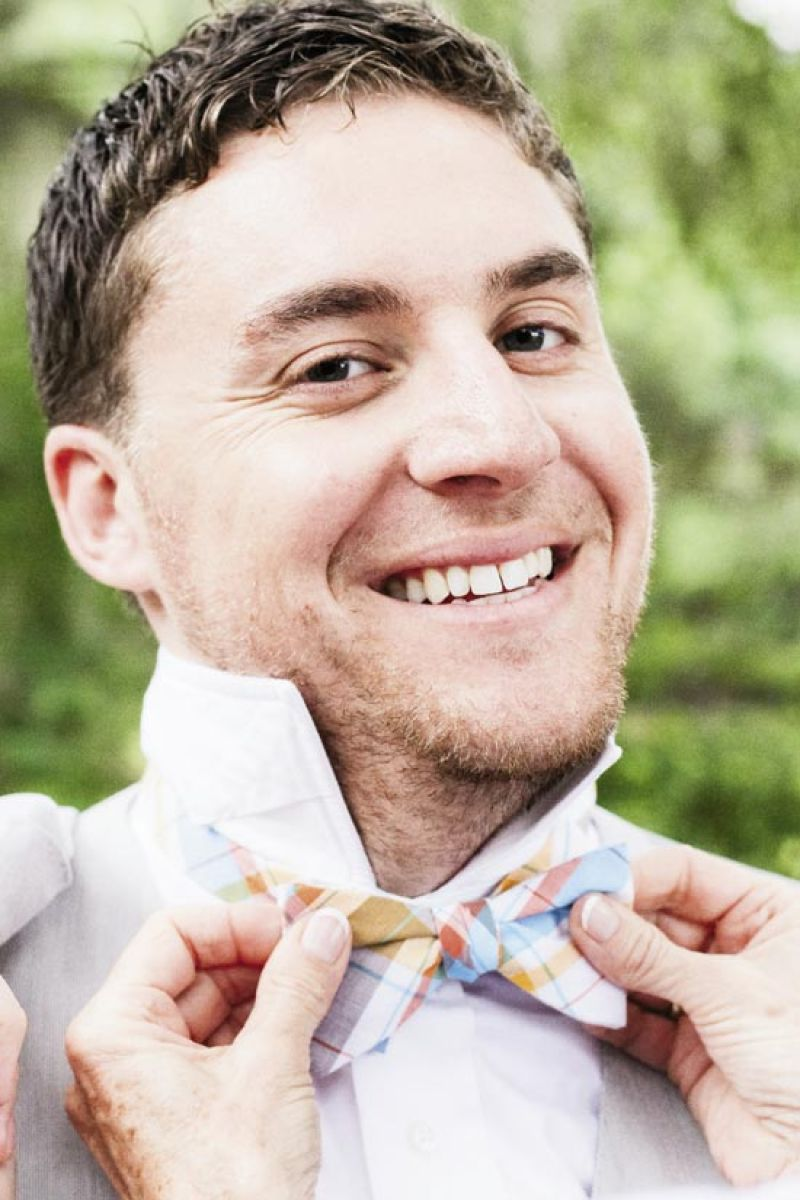 HIGH TIME: Jonny and the groomsmen sported bow ties from High Cotton Ties.