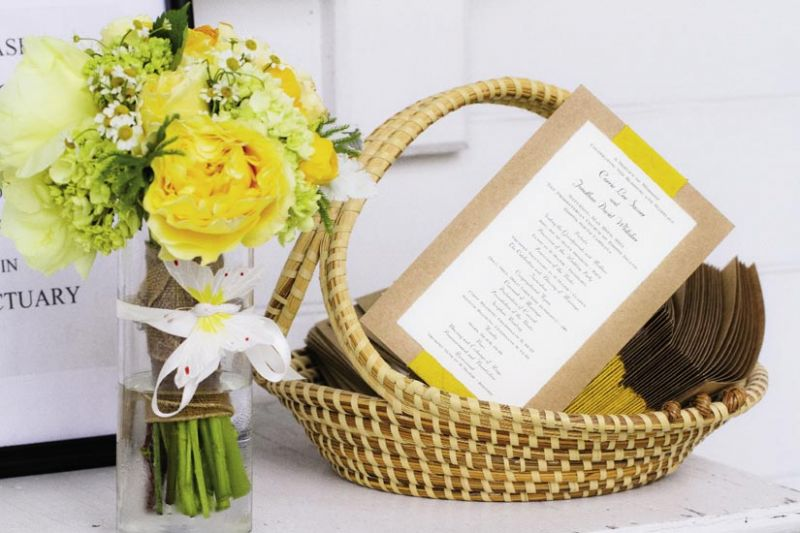 A TISKET, A TASKET: A sweetgrass basket added a local touch to the programs.
