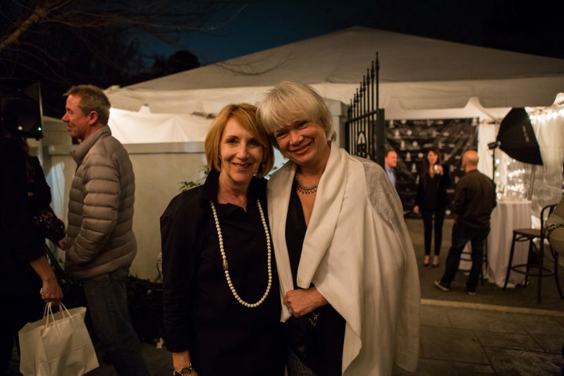 Auction winners Jane Milner and Mary Bishop