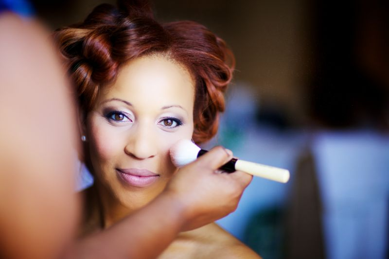 DOLLED UP: Hoping to show off her natural beauty on her Big Day, Richelle chose soft shades for her makeup.