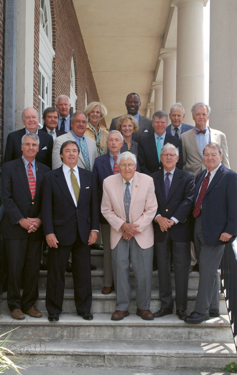 With HCF past board presidents at the annual Past Presidents Luncheon at the Missroon House this year