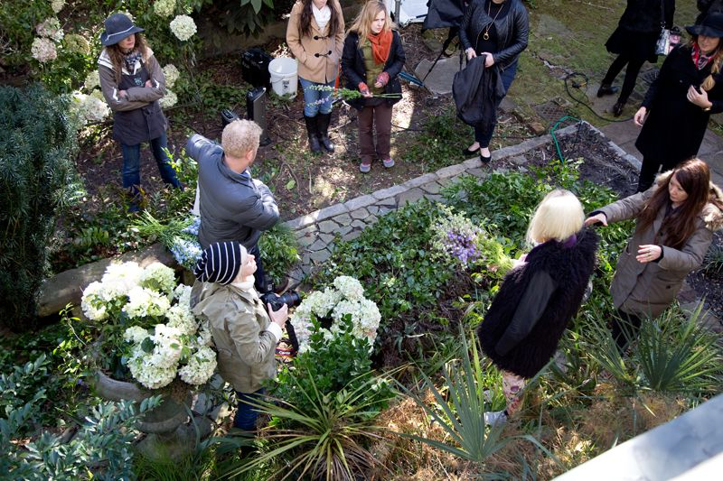 A bird's-eye view of the shoot; photo by Mac Kilduff