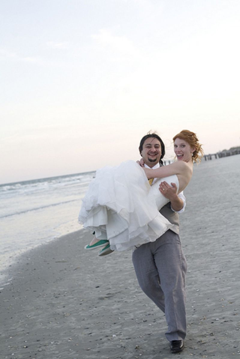 THE PERFECT PLACE: Tiffany and Benjamin say the Lowcountry was just right for their wedding.
