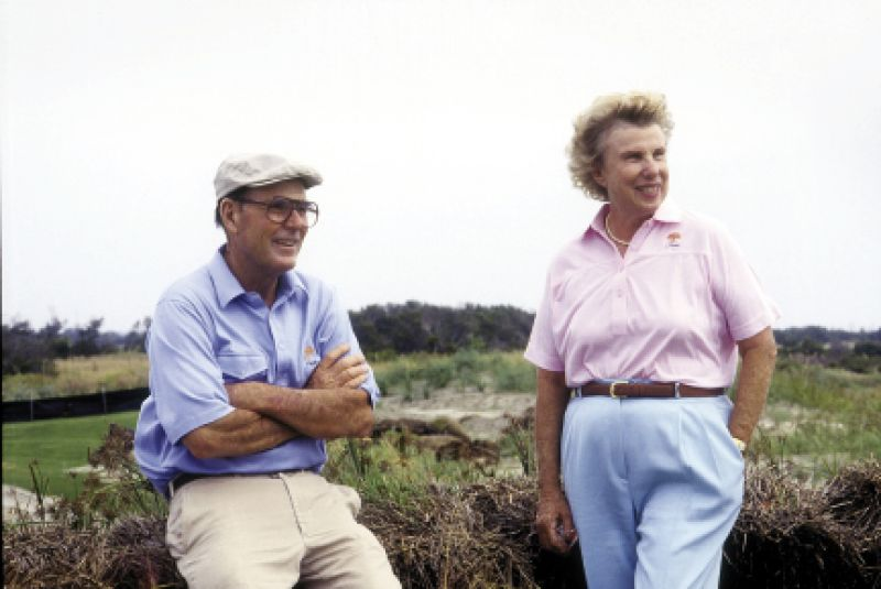 Pete and Alice Dye, married for 62 years, have collaborated on more than 100 golf courses around the world.
