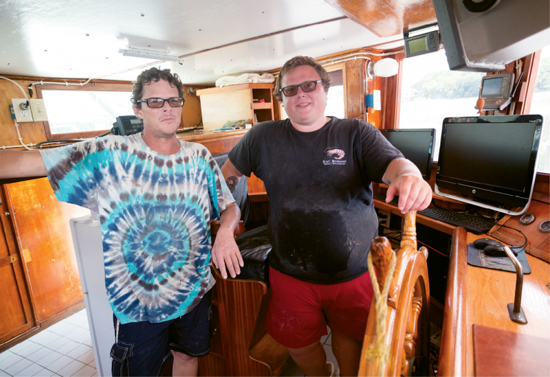 Bubba Rector's son Michael and grandson Franklin represent three generations of shrimpers.