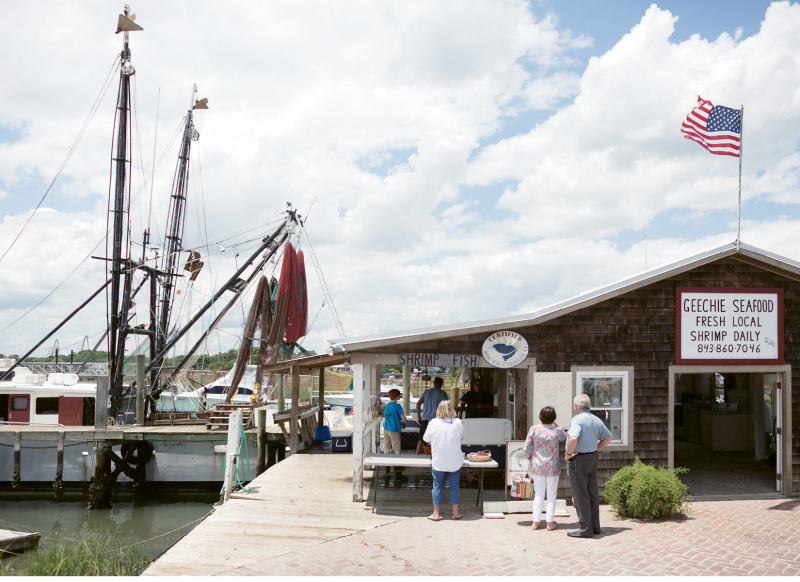 Customers line up at the Rectors' Geechie Seafood.