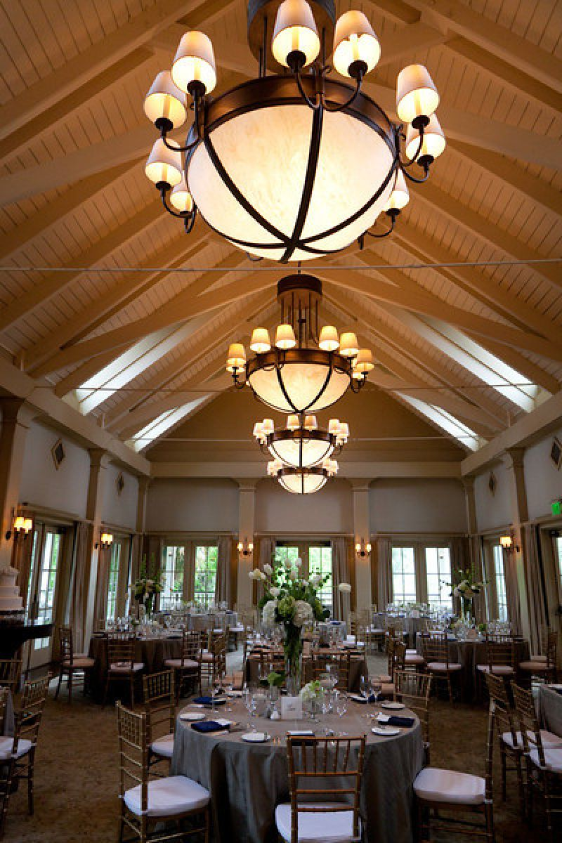 HIGH-END: The evening's color scheme complemented the River House Ballroom's white and beige interior.
