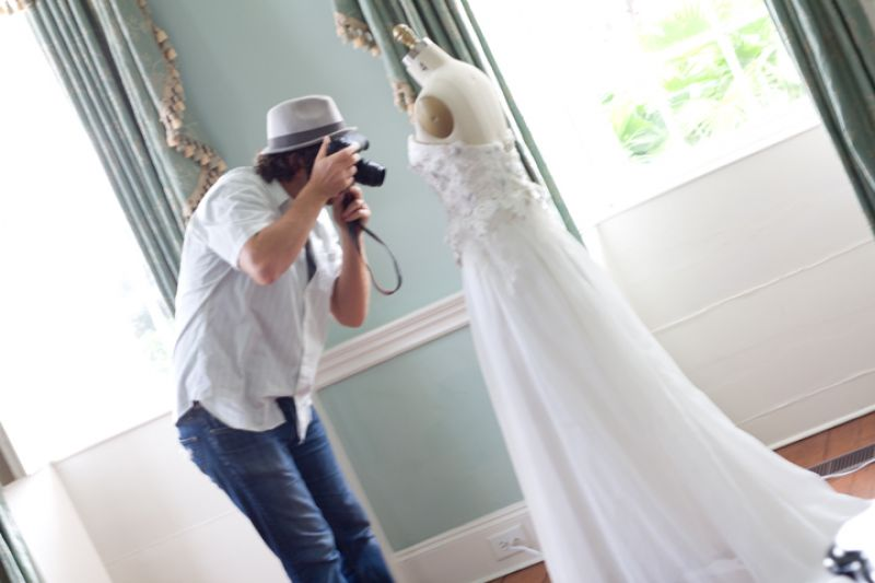 Photographer Andrew Cebulka, of HeirloomCreative, captures details of the dress to show what inspired the corresponding cake.