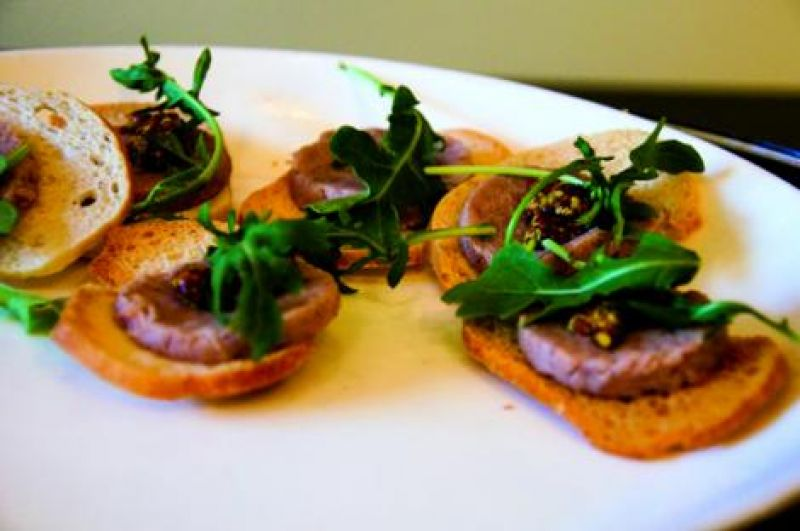 Duck rillette on housemade toast from Social