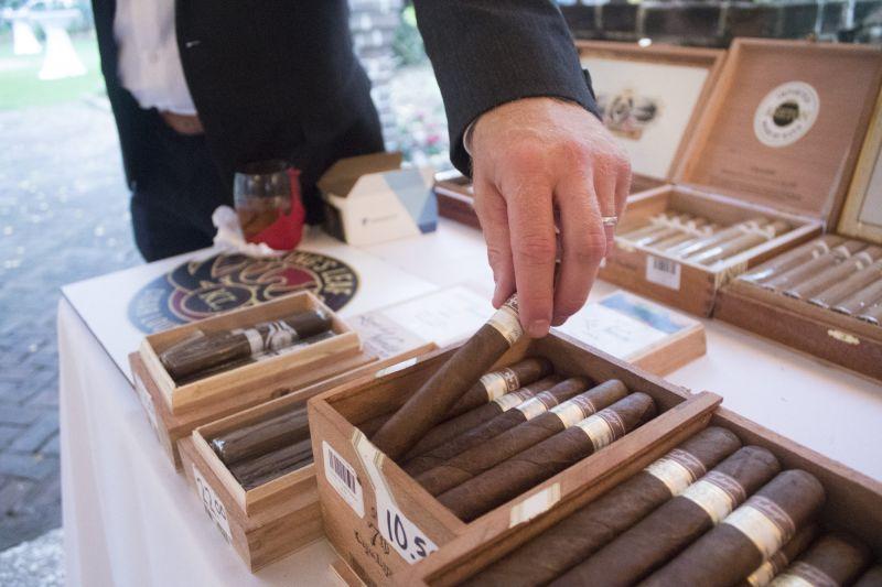 King's Leaf Cigar Lounge provided a plethora of fine cigars.