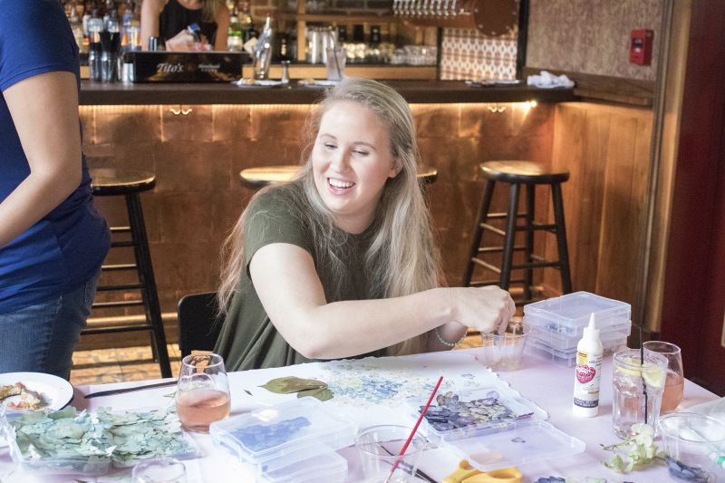Charleston magazine's advertising production manager Brandis Woods gets to crafting.
