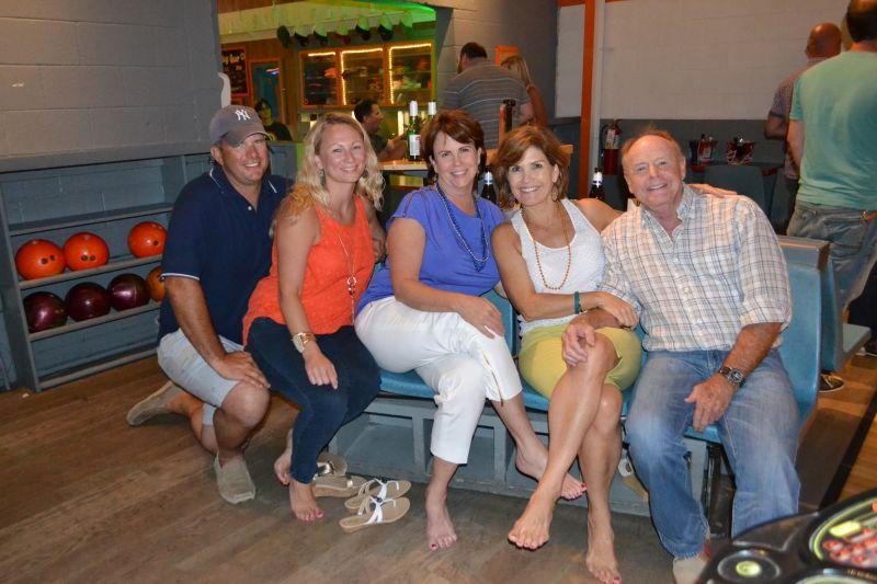 Casey and Hellen Clark, Isabel Norris, Suzy Noppens, and Mark Roberts