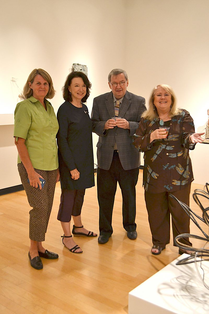 Collector of the 40 works displayed in the exhibit, William Arnett, posed with other Halsey Institute Board Members Kathleen Wright, Hellen Snow, and Anne Janes.