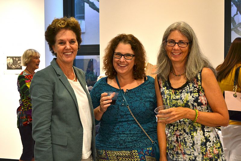 Charleston mayoral candidate Ginny Deerin, Gracie Russell, and Beth Warner