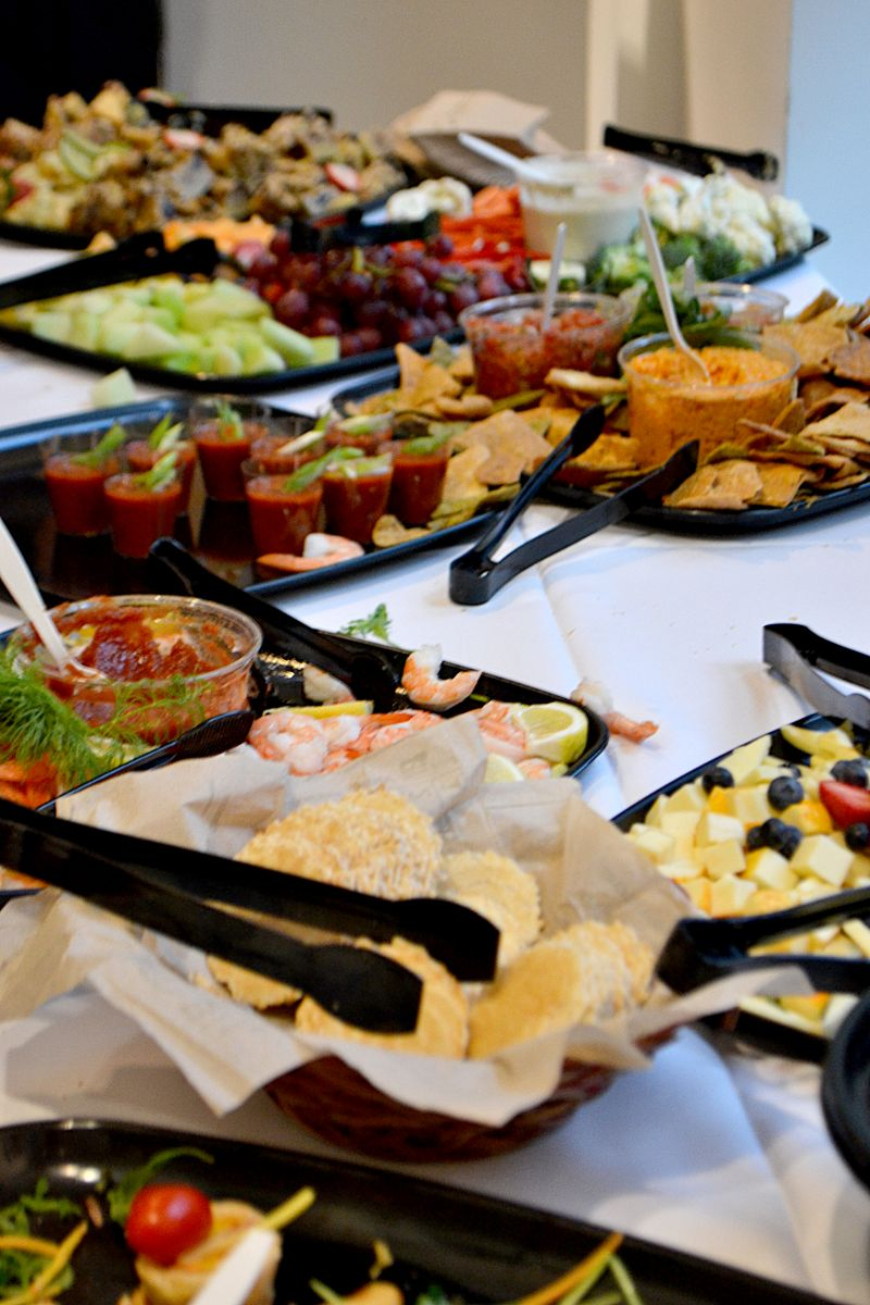 Guests munched on a delicious display of hors d'oeuvres.