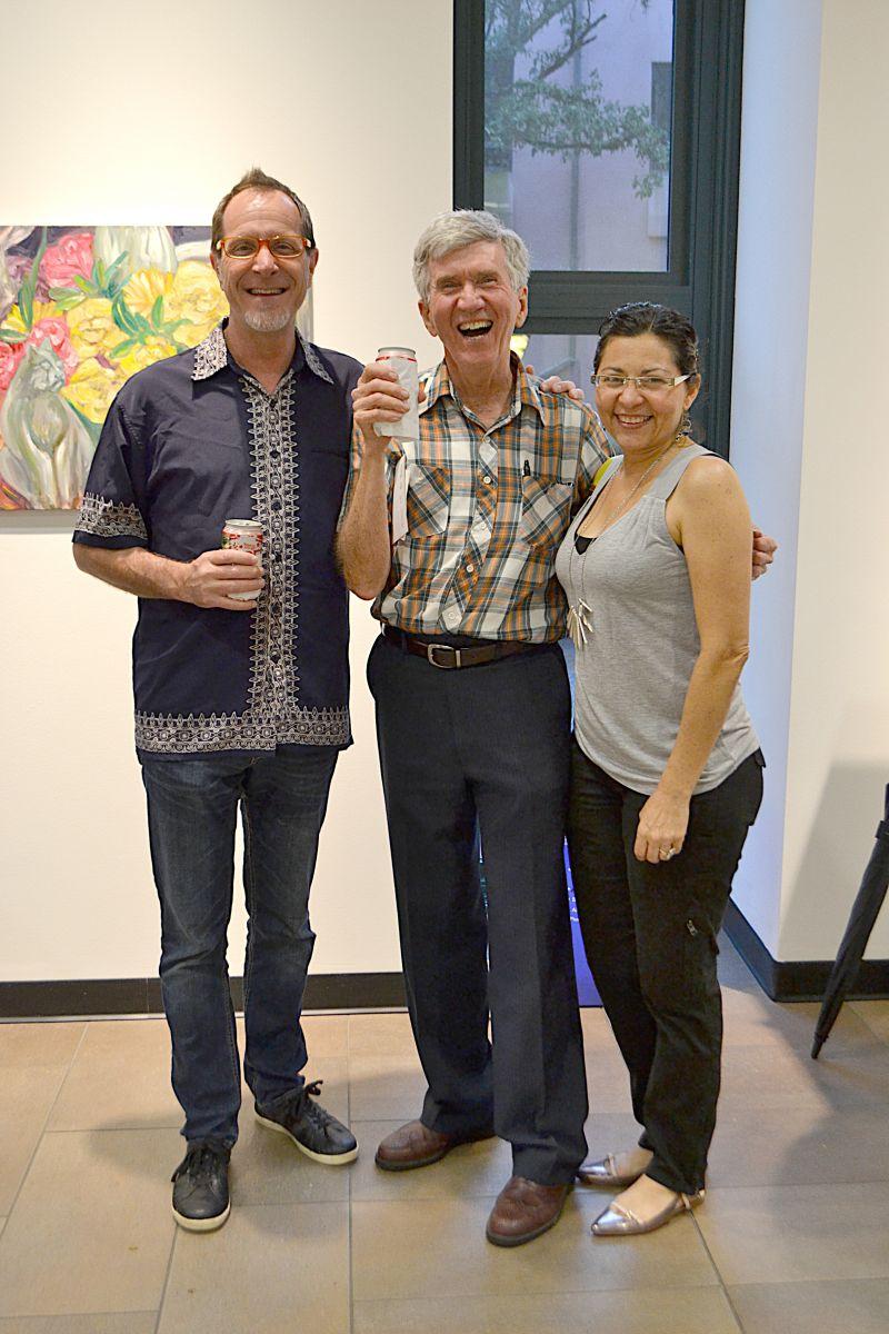 Charles Benesh, Bill Putnam, and Isabel Benesh