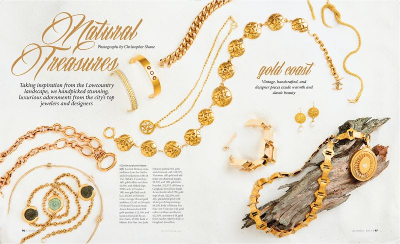 """Natural Treasures,"" Charleston magazine, September 2014"