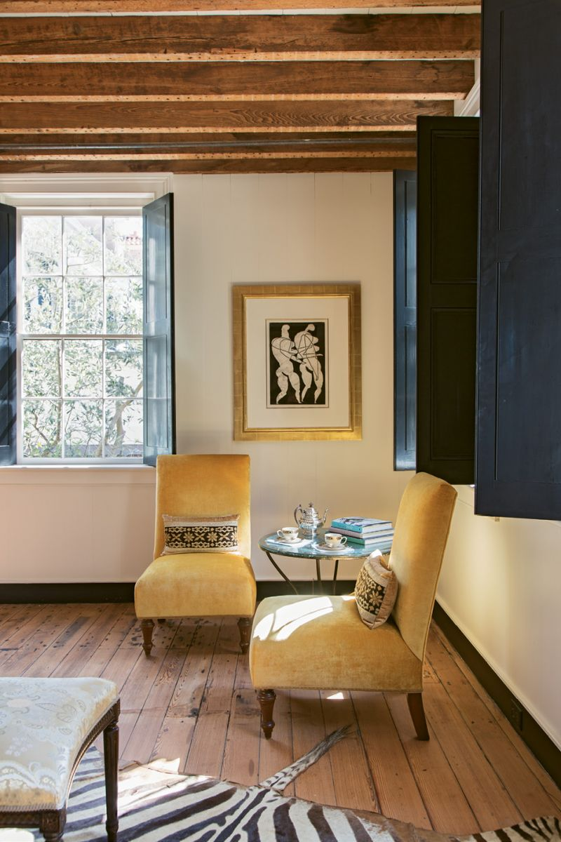 The guest quarters feature more breathtaking artworks, such as Otto Neumann monotypes.