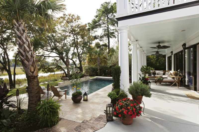 Outdoor Oasis: The Moriarts redesigned the backyard to highlight the view and better accommodate life outdoors.