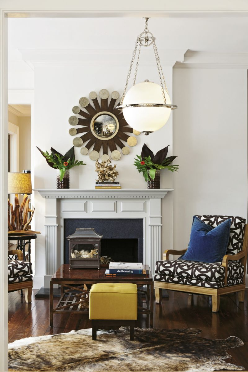 A study in contrasts: Jennifer believes a well- accessorized room begins with juxtaposition.