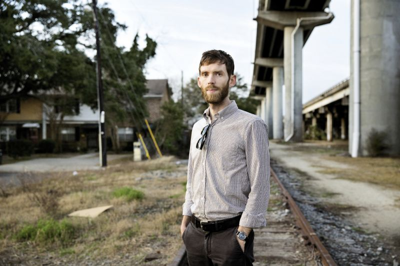 Where many see blight, Lindsey sees potential for urban parks and green space, as he designed here for the Charleston Lowline, a proposed linear park along abandoned railways under I-26 that's being championed by Mike Messner and the Speedwell Foundation.