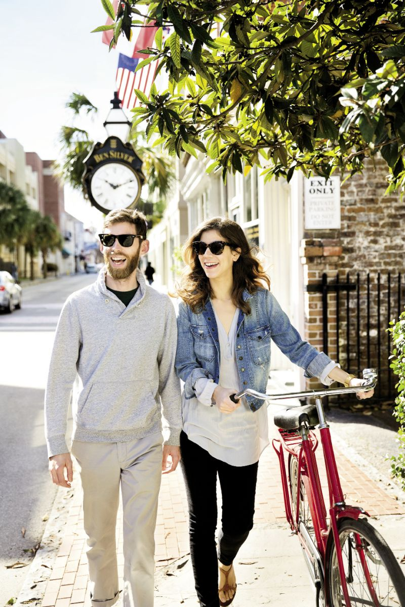 In Stride: Lindsey and his wife, Martina, walk or bike around town—to work, to shop, to go out, or to explore.