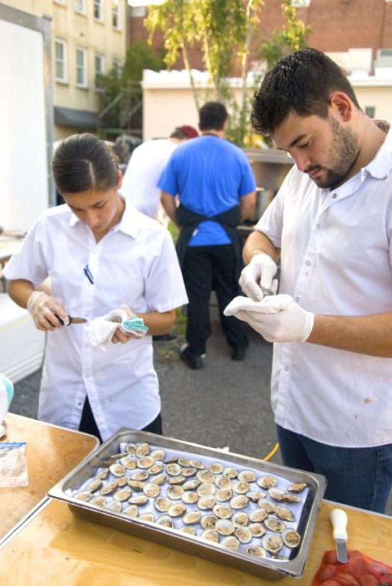 Guerilla Cuisine chefs Leila Chardt and Italo Marino