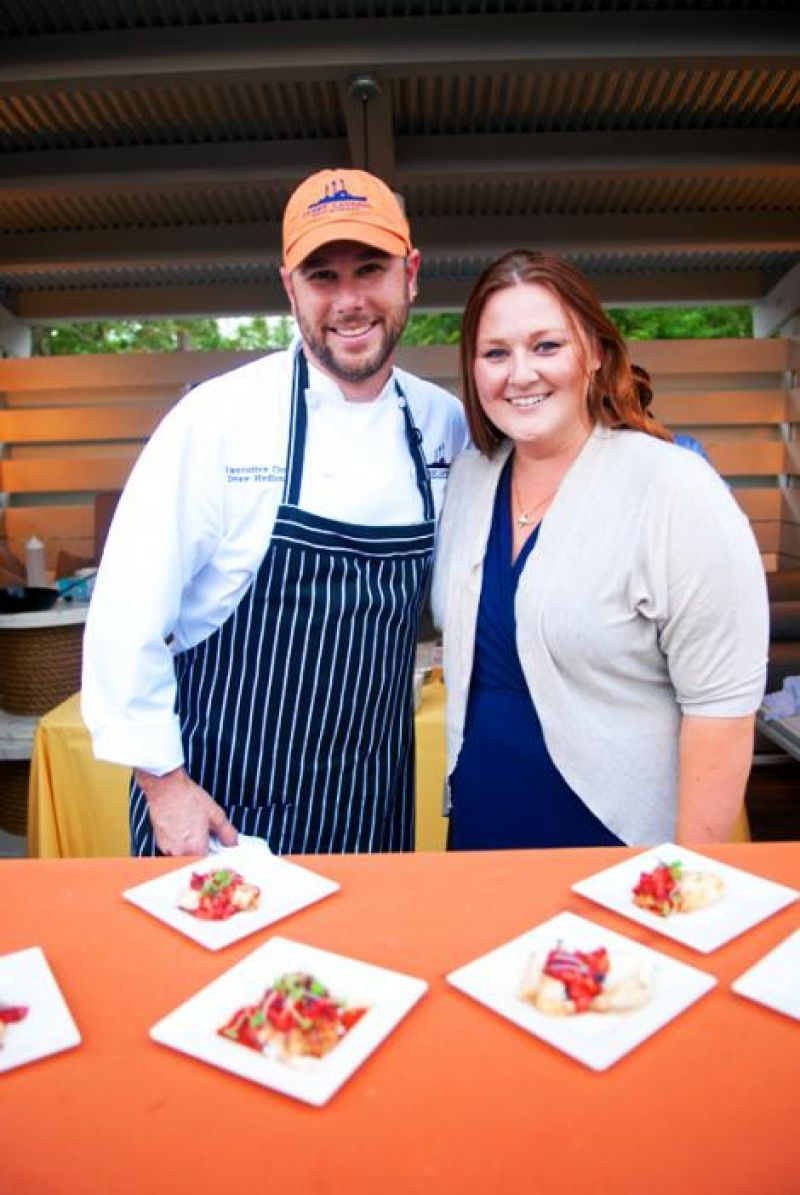 Fleet Landing's chef Drew Hedland and Sarah Nielson
