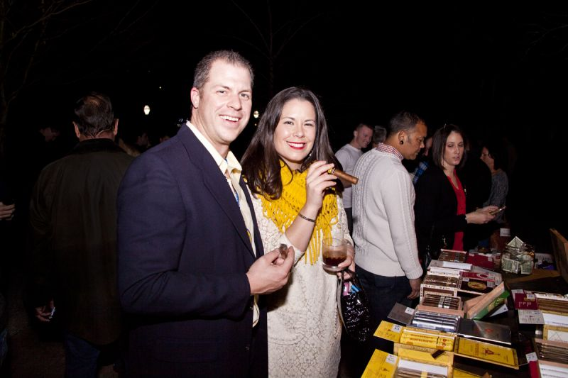 Dave And Collette Peterman Savored Newly Purchased Cigars In The Smoking  Lamp Cigar Cabana.