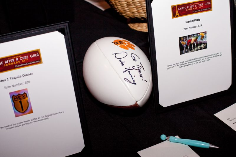 A Clemson football signed by head coach Dabo Swinney was up for grabs.