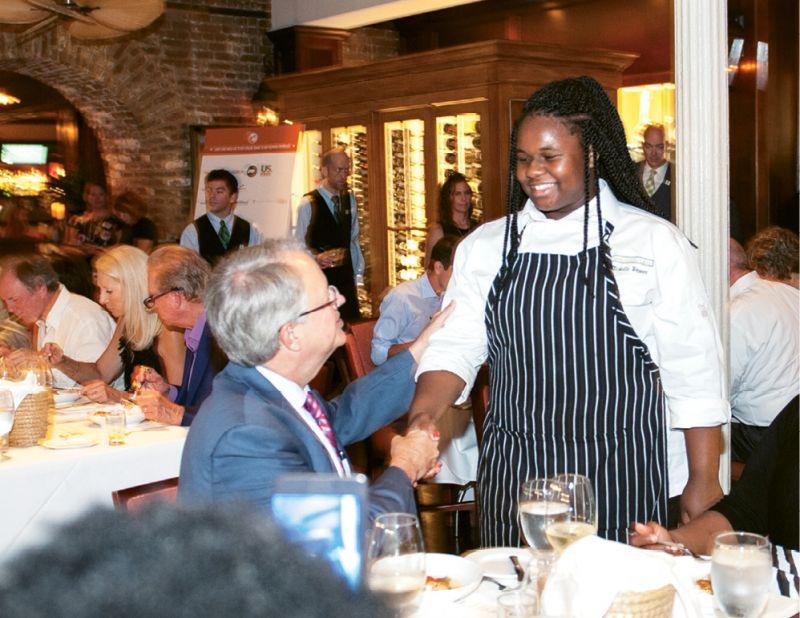 Little Chef Dannielle Brown meets  Mayor Tecklenburg
