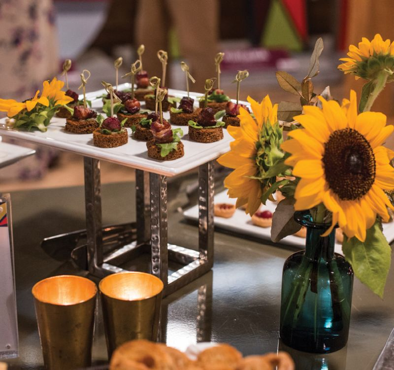 Hors d'oeuvres from Cru Catering