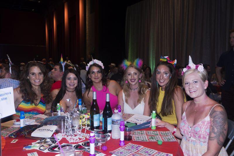 Colorful headwear, unicorn horns especially, was highly encouraged.