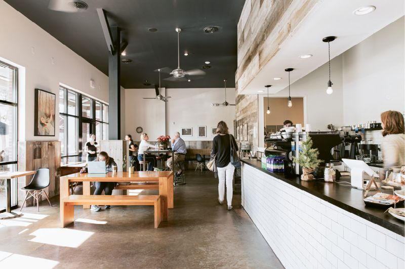 Coffee Complements: An ever-present conversational din and friendly counter service warm up the art gallery vibe at Collective Coffee Co.