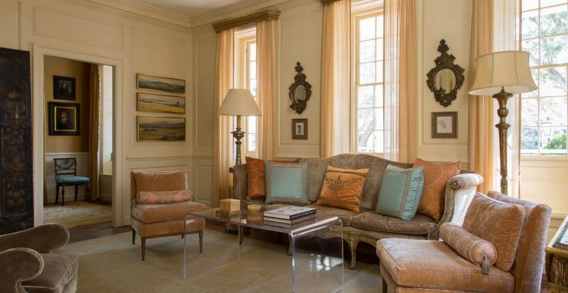 Local gallery owner ann long mercks meticulously preserved and classically appointed pre revolutionary residence is a masterpiece unto itself