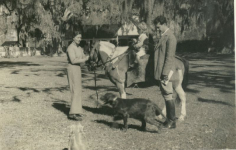 A riding lesson for Landine, March 1935