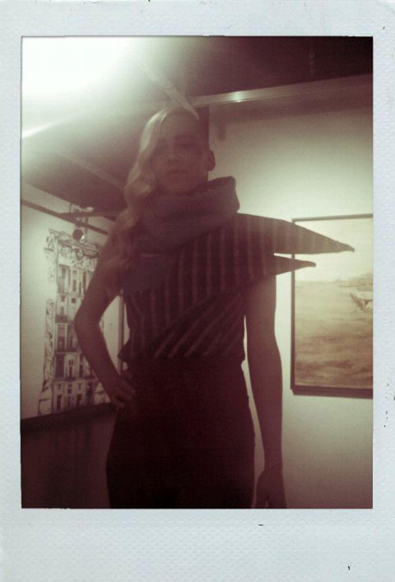 Amy Chadwell models Shelley Smith