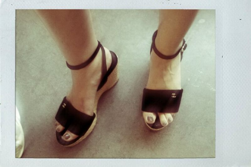 Street Style- Chanel Espadrille Wedges