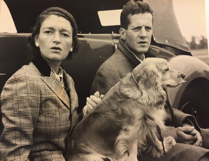 Gertie and Sidney with beloved spaniel Clippy