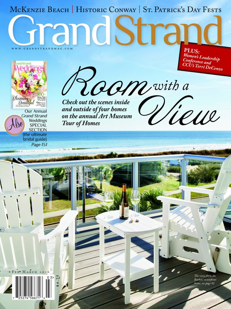 Chris shot the cover for Grand Strand magazine's Feb-March 2016 issue.